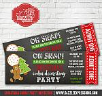 Christmas Cookie Decorating Party Ticket Invitation
