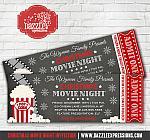 Christmas Movie Chalkboard Ticket Invitation