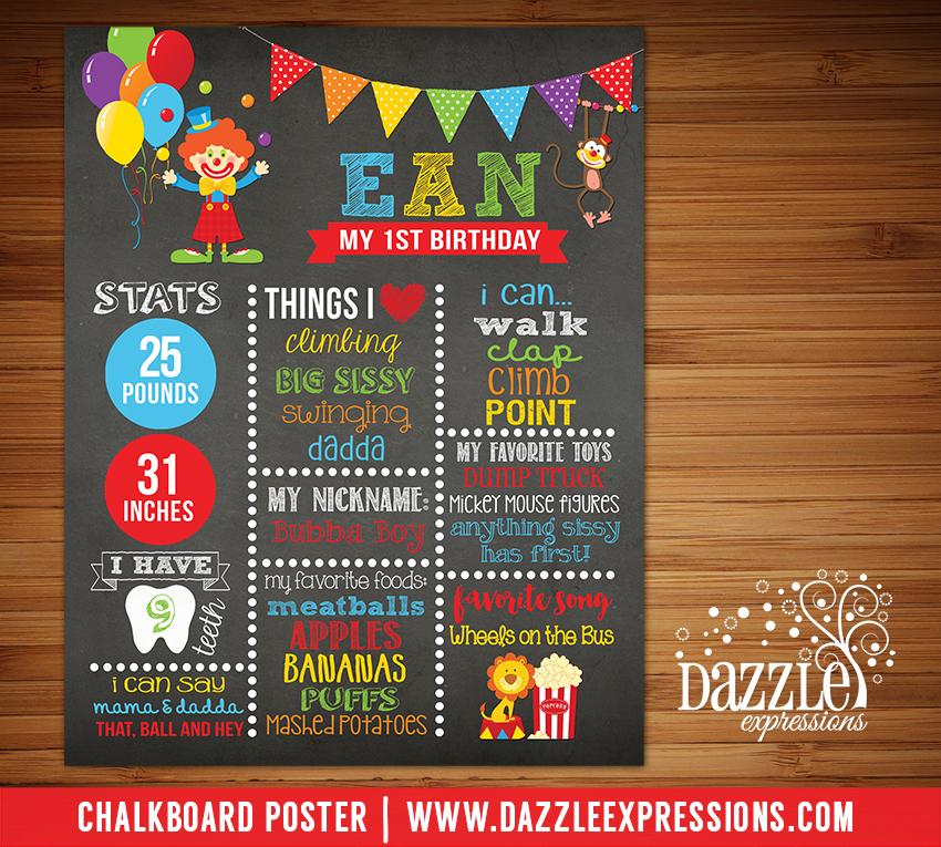 Printable Circus Chalkboard Poster