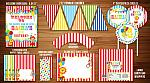 Circus or Carnival Complete Party Package - Printable (26 Items)