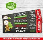 Cookie Exchange Party Ticket Invitation 2