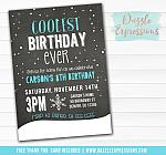 Coolest Birthday Ever Invitation - FREE thank you card
