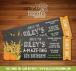 Corn Maze Chalkboard Ticket Invitation - FREE thank you card