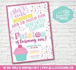 Cupcake Birthday Invitation 1 - FREE thank you card