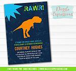 Dinosaur Baby Shower Invitation - FREE thank you card