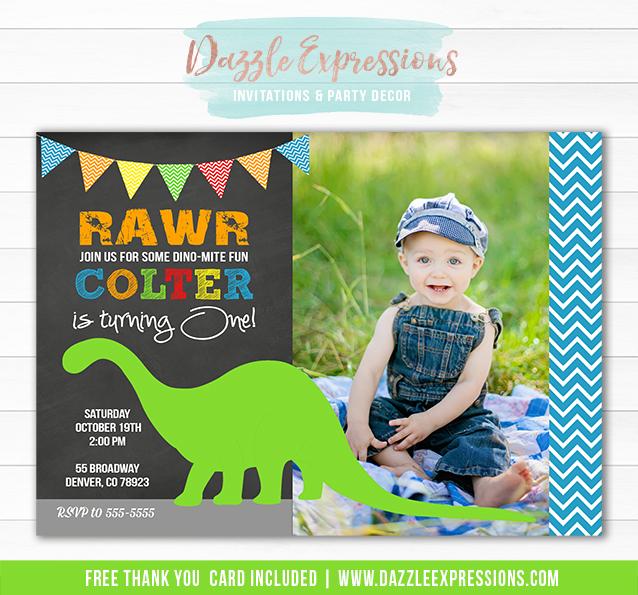 Dinosaur Birthday Invitation 10