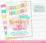 Double Digits Birthday Invitation - FREE thank you card included