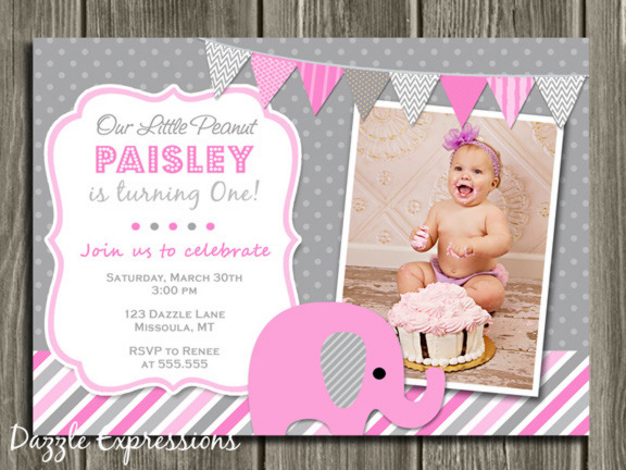 Elephant Birthday Invitation 5