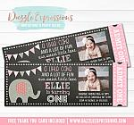 Elephant Chalkboard Ticket 3 - FREE thank you card