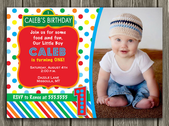Sesame Street Inspired Birthday Invitation
