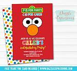 Elmo Inspired Invitation 1 - FREE thank you card included
