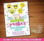 Emojional Birthday Invitation 1 - FREE thank you card
