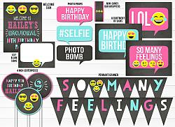 Emoji Chalkboard Complete Party Package