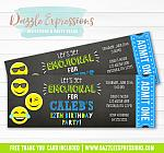 Emojional Chalkboard Ticket Invitation 2 - FREE thank you card