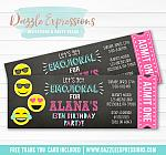 Emojional Chalkboard Ticket Invitation 1 - FREE thank you card