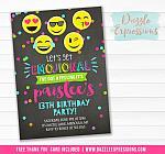 Emojional Chalkboard Invitation - FREE thank you card