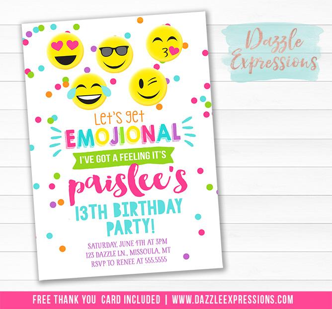 Emojional Birthday Invitation 1