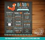 Printable Fox Chalkboard Poster