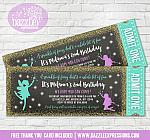 Fairy Glitter Ticket Invitation 1 - FREE thank you card included