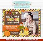 Fall Festival Birthday Invitation 3 - FREE thank you card
