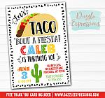 Taco Fiesta Birthday Invitation - FREE thank you card