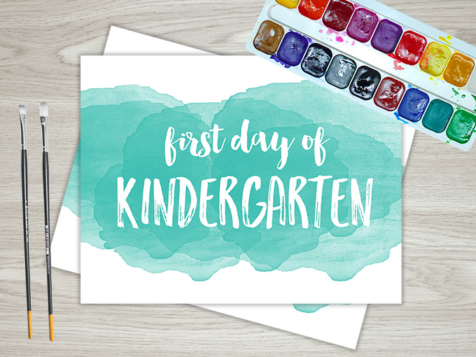 Watercolor First Day of School Set