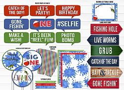 Fishing Watercolor Complete Party Package