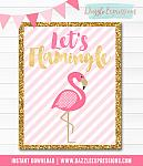 Flamingo Wall Art - Instant Download