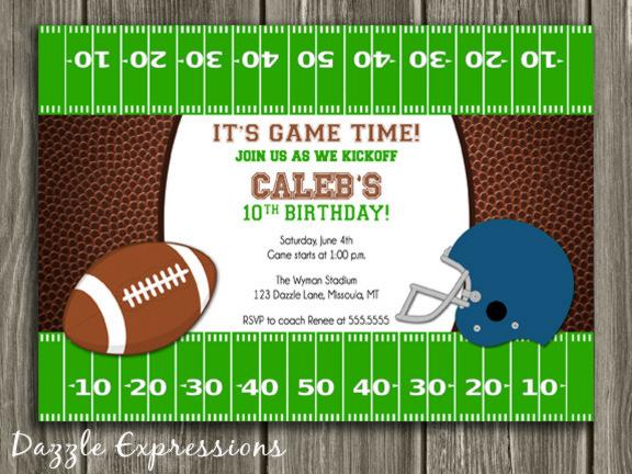 Football Birthday Invitation 3