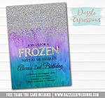 Frozen Birthday Invitation 4 - FREE thank you card included