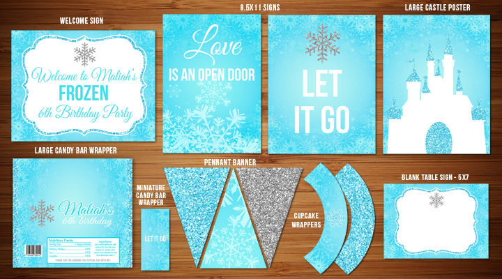Frozen Inspired Complete Party Package - Printable