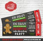 Gingerbread Cookie Decorating Party Ticket Invitation