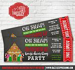 Gingerbread House Decorating Party Ticket Invitation