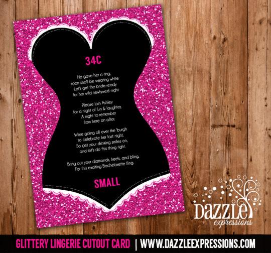 Glittery Lingerie Cutout Card