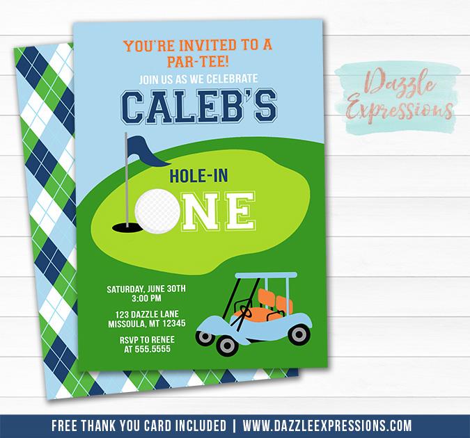 Golf Invitation 2 - FREE thank you card