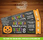 Halloween Party or Birthday Ticket Invitation - FREE thank you card included