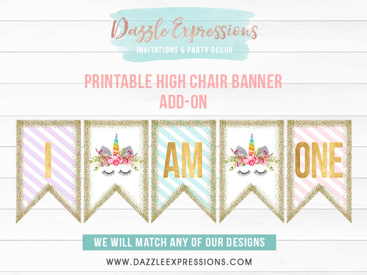 ADD ON High Chair Banner