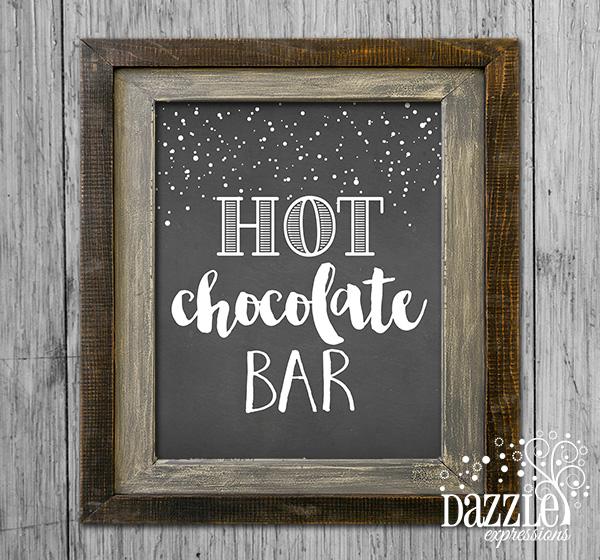 Hot Chocolate Bar Sign - Printable