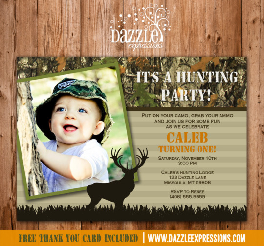printable kids camo hunting birthday invitation  mossy oak, Birthday invitations