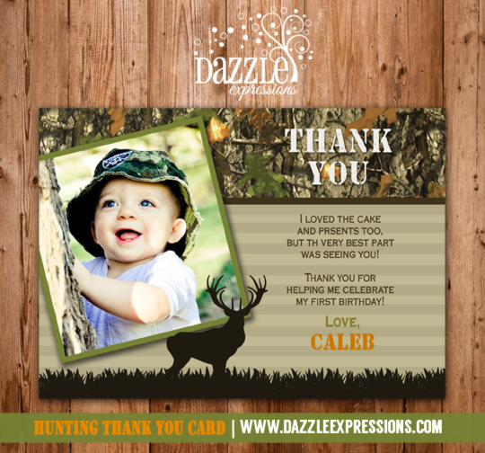 Hunting Photo Thank You Card - Printable