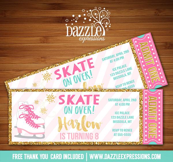 Ice Skate Invitation FF21 Advancedmassagebysara