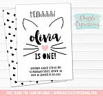 Kitten Invitation 2 - FREE thank you card
