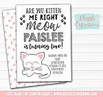 Kitten Invitation 1 - FREE thank you card