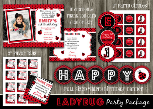 Ladybug Complete Party Package - Printable