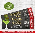 Margaritas Under the Mistletoe Holiday Party Ticket Invitation