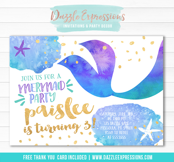 Mermaid Birthday Invitation 6