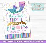 Mermaid Birthday Invitation 7 - FREE thank you card