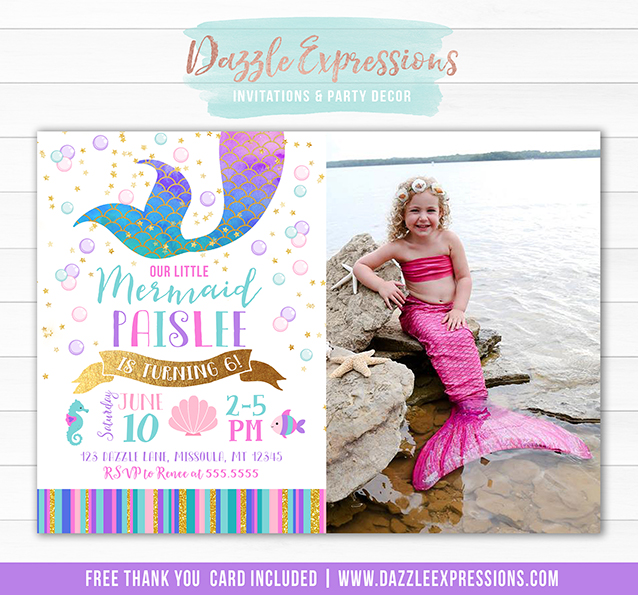 Mermaid Birthday Invitation 8