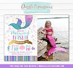 Mermaid Birthday Invitation 8 - FREE Thank you card
