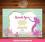 Mermaid Birthday Invitation 4 - FREE thank you card included